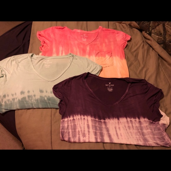 dac8787b3 American Eagle Outfitters Tops | American Eagle Soft And Sexy Tie ...